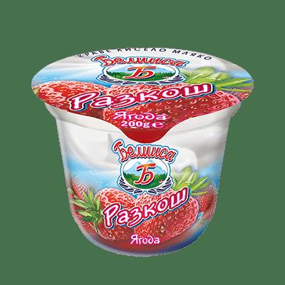 """Плодово мляко """"Белииса"""" – ягода"""